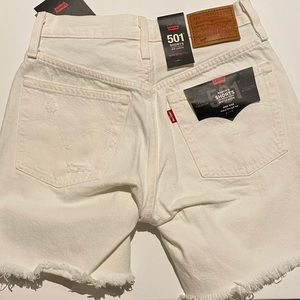 Levi's 501 High Rise Mid Length Shorts